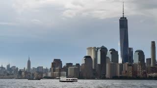 World Trade Center New York city skyline 9/11 Patriot Day background