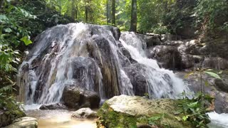 Waterfall in tropical Thailand