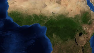 west Africa from space - slow tilt - Western Africa is the westernmost subregion of the African continent. West Africa has been defined in Africa as including the 18 countries
