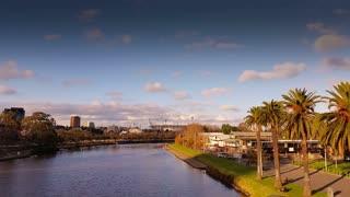 Yarra river- Melbourne City Victoria Australia
