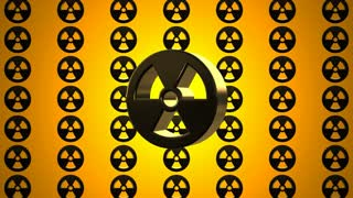 Yellow Black Nuclear Radioactive Radiation Symbol Logo
