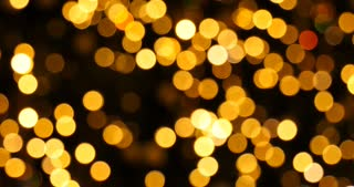 Yellow bokeh lights christmas background