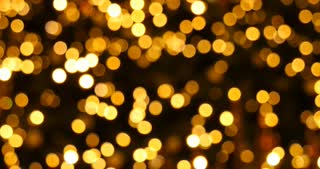 Yellow bokeh lights christmas background