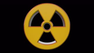 Yellow red Nuclear Radioactive Radiation Symbol Logo