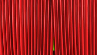 3d animation, Classic theater stage, with green-screen.