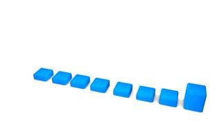 3d animation rendering, bar chart.