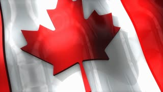 3D flag, Canada, waving, ripple, North America.