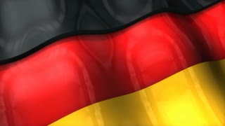 3D flag, Germany, waving, ripple, Europe.