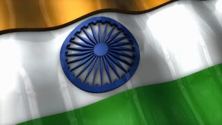 3D flag, India, waving, ripple, Asia.