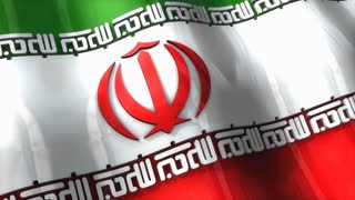 3D flag, Iran, waving, ripple, Asia.