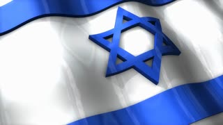 3D flag, Israel, waving, ripple, Africa, Middle East.