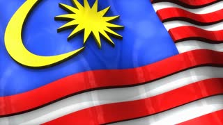 3D flag, Malaysia, waving, ripple, Asia.