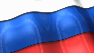 3D flag, Russia, waving, ripple, Europe.