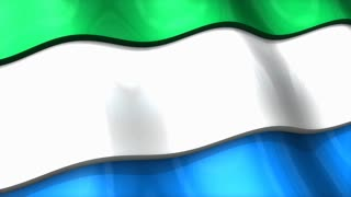3D flag, Sierra Leone, waving, ripple, Africa, Middle East.