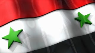 3D flag, Syria, waving, ripple, Africa, Middle East.