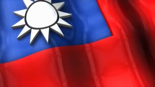 3D flag, Taiwan, waving, ripple, Asia.