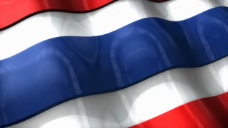 3D flag, Thailand, waving, ripple, Asia.