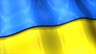 3D flag, Ukraine, waving, ripple, Europe.
