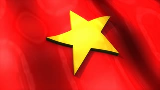 3D flag, Vietnam, waving, ripple, Asia.