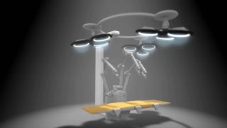 Artist concept rendering, Robotic surgery.