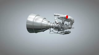 Artist concept rendering rocket engine model.