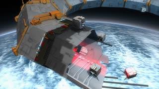 Artist concept, space construction bots, space 3d print.