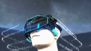 Artist concept Virtual Reality headset.
