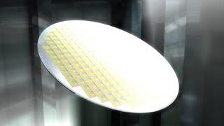 Artist recreation Microchip silicon wafer.