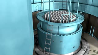 Artist rendering, Nuclear reactor interior view, reactor, power.