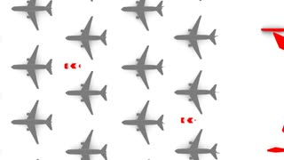 Background animation, airliner theme, flight, path, direction, domestic, commercial.