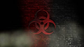 Biological hazard, icon, symbol, warning, dangerous.