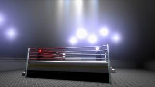 Boxing ring, sport, light, stadium, kickboxing, arena, empty sport.