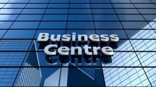 Business centre building, cloud time lapse.