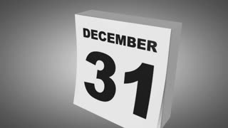 Calendar changing date, 1st of January, new year.