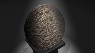Cgi Maya calendar over a pillar, ancient.