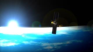 Cgi satellite on the horizon.