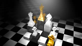 Chess pieces animation, loop-able, game, board.