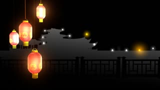 Chinese new year video animation background theme, loopable.