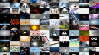 Collage of video clips