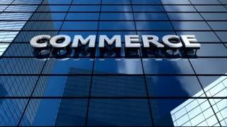 Commerce building blue sky timelapse.