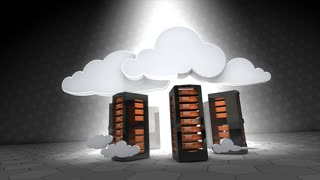 Concept animation, Cloud server, flexibility, sucure, future, technnology.