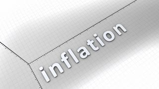 Concept animation, growing chart - Inflation.