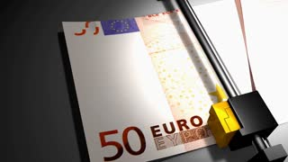 Concept animation, euro money printer