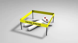 Conceptual animation crime scene.