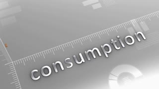 Consumption decreasing chart, statistic and data