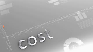 Cost decreasing chart, statistic and data