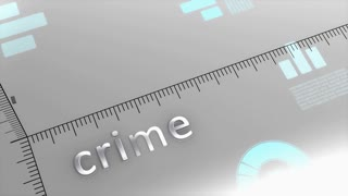 Crime decreasing chart, statistic and data