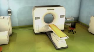 CT Scanner room, hospital, technology, diagnosis, scan.