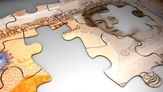 Currency puzzle, Pound Sterling, crisis, value, future, devalue..