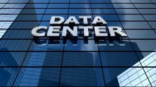 Data center building blue sky timelapse.